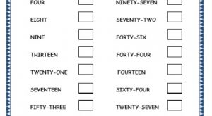 Kindergarten Number Printable Worksheets