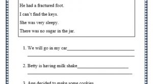 grade 1 conjunctions using but grammar printable worksheet