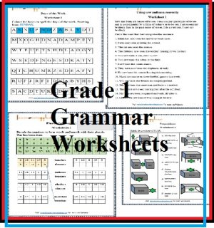 Grade 1 Grammar Printable Worksheets