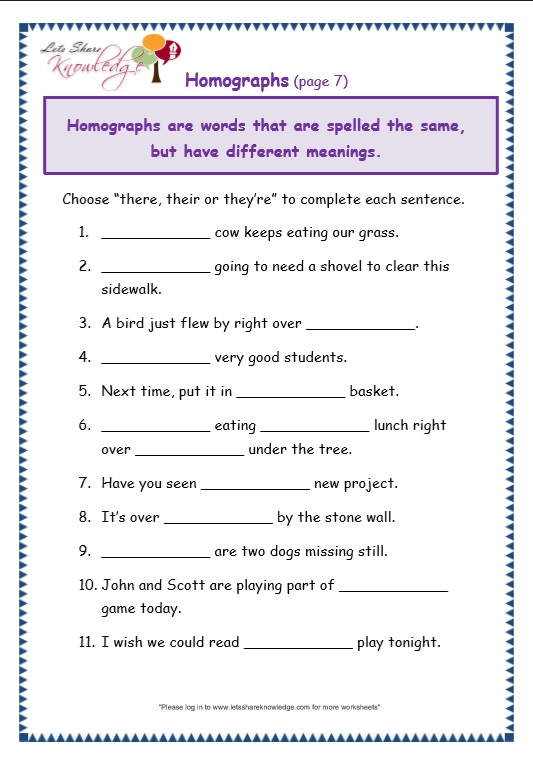 Grade 3 Grammar Topic 26 There Their Theyre Worksheets Lets – There They Re Their Worksheet