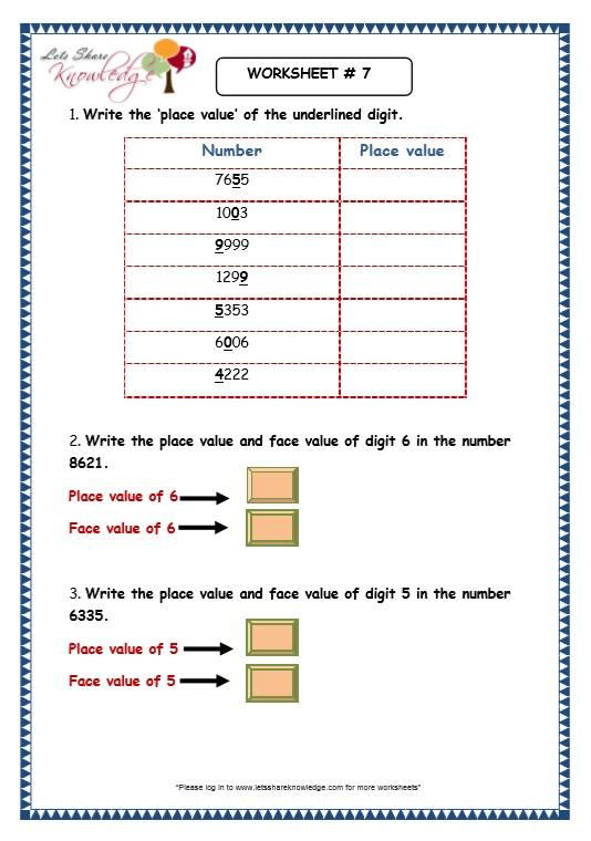 Numeration Worksheets - Delibertad