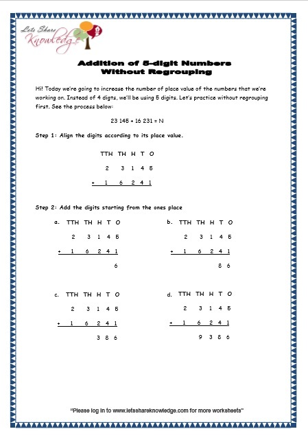 Number Names Worksheets : 3 digit addition without regrouping ...