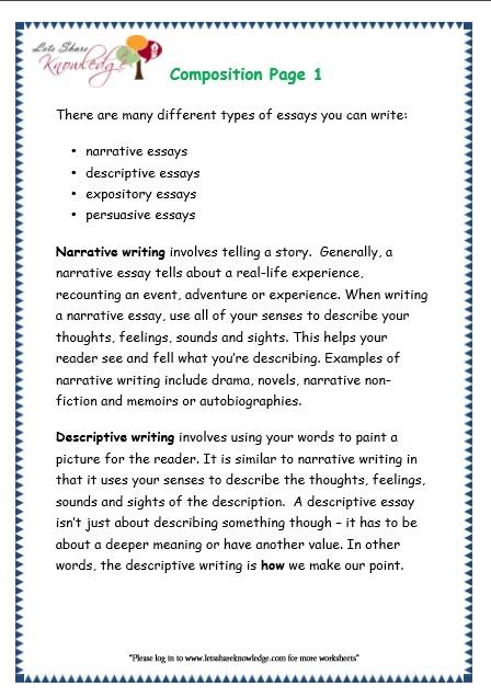 Grade 3 Grammar Topic 43: Composition Worksheets - Lets ...